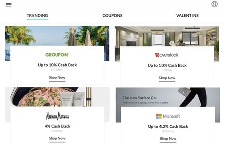 Kiindly offers the best cash back when you shop from over online 1,200 stores