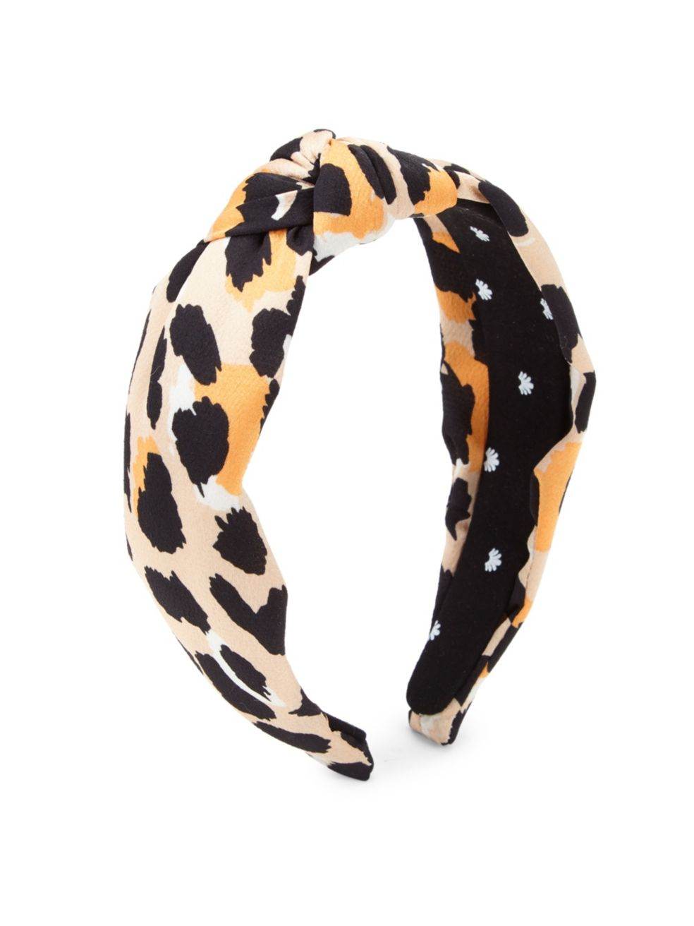 Lele Sadoughi Silk Knotted Leopard Print Headband