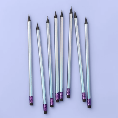 8ct Iridescent Sharpened #2 Pencils with Black Core