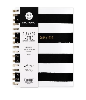 Academic Planner Black/White - Blue Sky