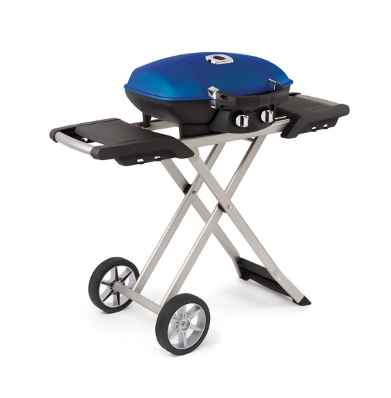 Napoleon Travel Portable Compact Propane Gas Grill With Scissor Cart