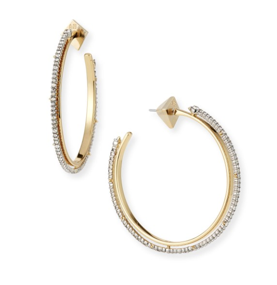 10k Gold Hoops from Alexis Bittar