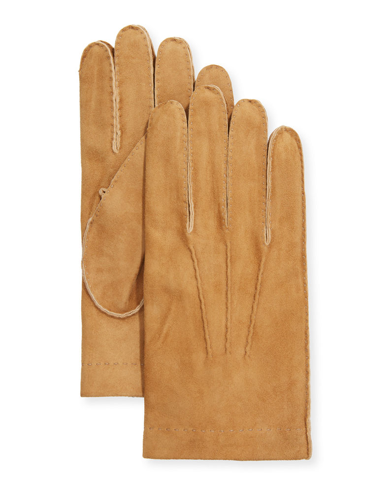 Cashmere lined suede gloves