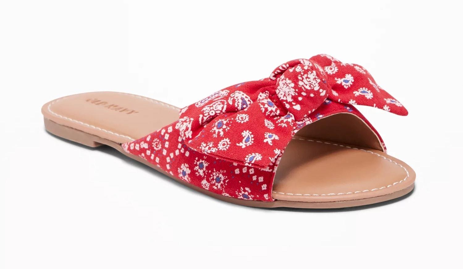 Bow-Tie Capri Sandals