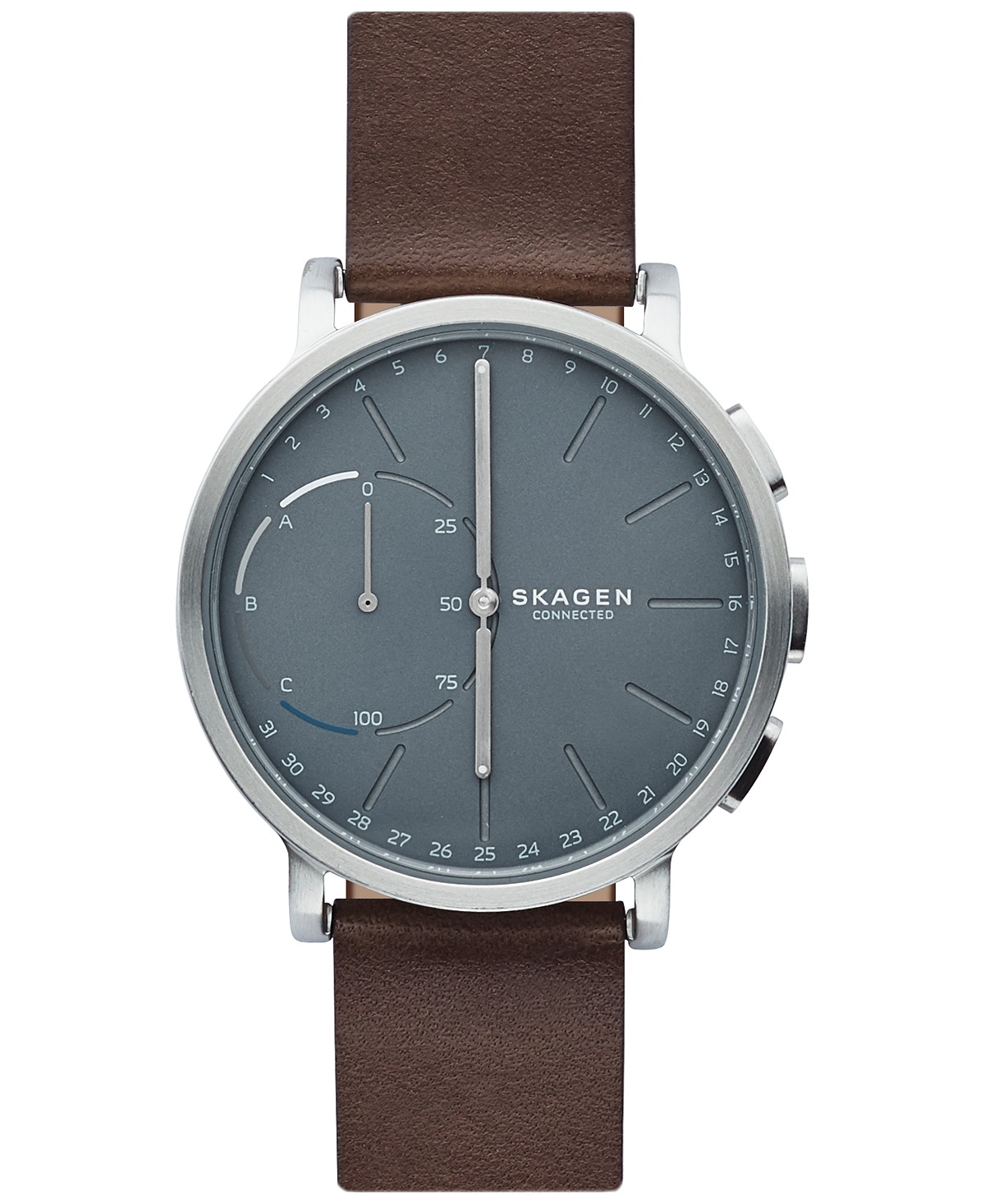 Skagen Hagan Brown Leather Strap Hybrid Smart Watch